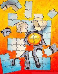 Puzzle, Ei, Bunt, Malerei