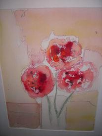 Aquarellpaier pflanzen blumen, Abstrakt fantasie, Aquarell