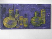 Komplementär, Vase, Flasche, Gelb