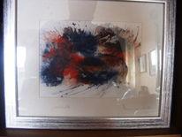 Fantasie, Aquarellmalerei, Abstrakt aquarell, Malerei