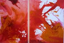 Abstrakt, Blut, Rot, Acrylmalerei