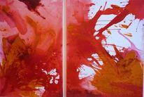 Malerei, Abstrakt, Blut, Rot