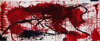 Rot schwarz, Acrylmalerei, Weiß, Malerei