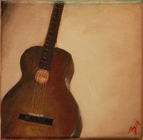 Gitarre instrument, Malerei