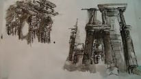 Zeichnung, Umgebung, Skizze, Tusche