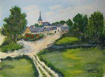 Dorf, Alflen, Eifel, Landschaft