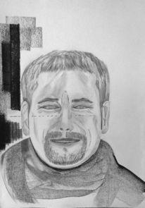 Zeichnungen, Portrait, Schal