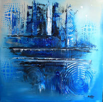 Abstrakte gemälde, Büro, Abstrakte bilder, Blau