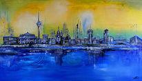 Stadt, Arena, Fernsehturm, Stadt malerei