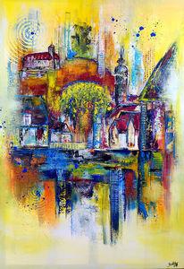Malen, Wandbild, Vaihingen, Acrylmalerei