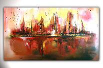 Abstrakte kunst, Acrylmalerei, Moderne kunst malerei, Wandbilder
