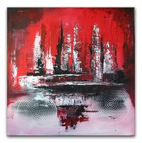 Abstrakte malerei, Gemälde, Quadrat, Grau