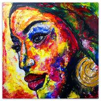 Malen, Malerei, Frau, Moderne kunst