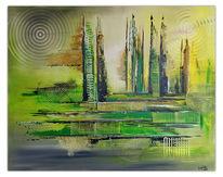 Acrylmalerei, Freshmaker, Abstrakt, Wandbild