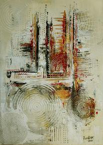Kreativ, Gold, Acrylmalerei, Malen
