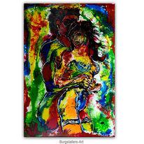 Acrylmalerei, Gemälde, Akt, Malerei