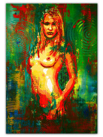 Erotik, Frau, Gemälde, Moderne malerei