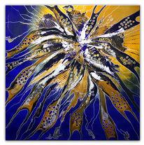 Loch, Abstrakt, Gemälde, Blau