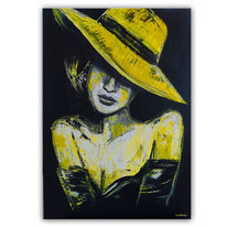 Acrylmalerei, Elegant, Malerei, Porträt frau
