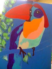 Vogel, Malerei, Tiere