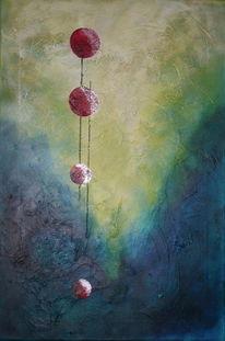 Abstrakt, Schrubben, Kugel, Acrylmalerei