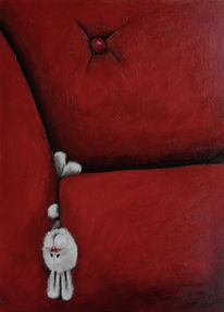 Figur, Sofa, Comic, Akt