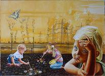 Umwelt, Verschmutzung, Kinder, Malerei