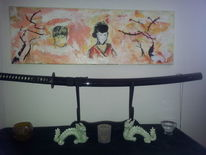 Japan, Samurei, Geisha, Nebel