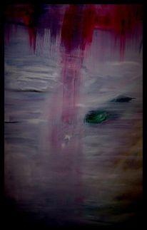 Mischtechnik, Acrylmalerei, Landschaft, Abstrakt