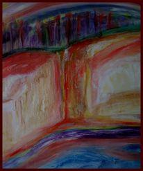 Abstrakt, Landschaft, Ölmalerei, Kalk