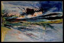 Ölmalerei, Landschaft, Kalk, Sand