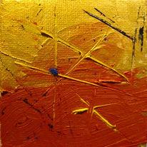 Achse, Abstrakt, Miniatur, Gelb