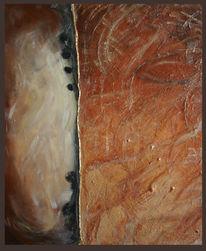 Abstrakt braun, Acrylmalerei, Struktur, Gold