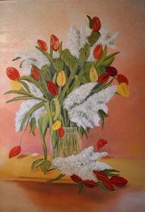 Blumenstrauß, Tulpen, Blumen, Stillleben