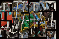 Digitale kunst, Menschen, Konzept, Gesellschaft