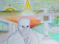 Zeichnung, Menschen, Symbolismus, Zeichnungen