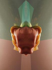 Technik, Digitale kunst, Wissenschaft, Hyperrealismus