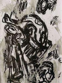 Mischtechnik, Innere befindlichkeiten, Malerei
