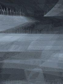 Digital, Befindlichkeit, Landschaft, Digitale kunst