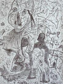 Ausdruck, Landschaft, Zeichnung, Zeichnungen