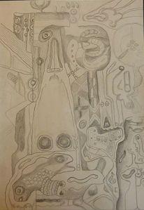 Symbolismus, Zeichnungen, Stein