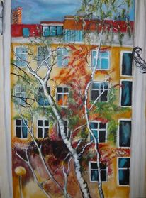 Haus, Fenster, Baum, Ausblick