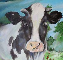 Kuh porträt tier, Malerei, Tiere, Kuh