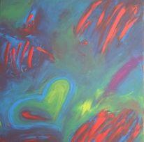 Liebe, Abstrakt, Fingermaltechnik, Fantasie