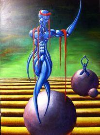 Ölmalerei, Surreal, Bunt, Malerei