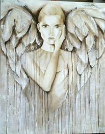 Acrylmalerei, Malerei, Engel, Moment