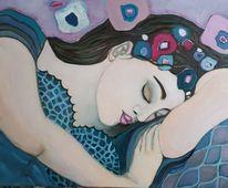 Schlaf, Hallo frau, Jugendstil, Rosa