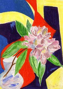 Pastellmalerei, Gegenständlich, Hip, Blumen