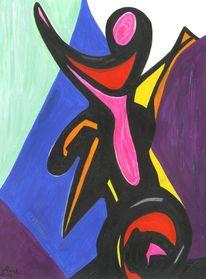 Nest, Struktur, Acrylmalerei, Farben
