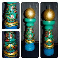 Kerzenständer, Türkis, Flühen, Kerzenhalter
